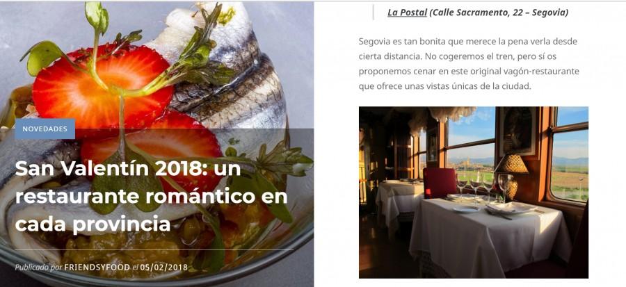 San Valentin de la mano del romance en La Postal